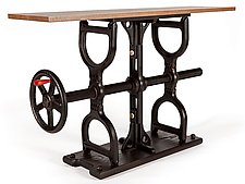 Crank Table by James Pearce (Wood Console Table)
