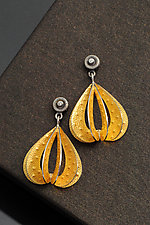 Substerile Earrings in Gold by Sooyoung Kim (Gold, Silver & Stone Earrings)
