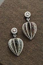 Small Lantern Plant Earrings by Sooyoung Kim (Silver & Stone Earrings)