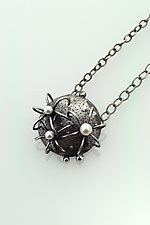 Round Cactus Necklace by Sooyoung Kim (Silver & Pearl Necklace)
