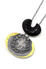 Inner Universe Necklace by Sooyoung Kim (Gold, Silver & Stone Necklace)