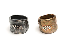 New Wide Band by Ann Chikahisa (Silver or Bronze Ring)