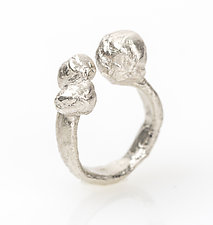 Bubble Ring by Ann Chikahisa (Silver or Bronze Ring)