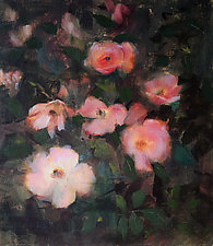 Late Summer Knockouts by Leslie Dyas (Oil Painting)