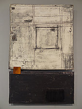 Black, White, and Rust by Lori Katz (Ceramic Wall Sculpture)