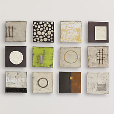 Twelve by Lori Katz (Ceramic Wall Sculpture)