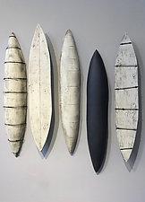 Pods by Lori Katz (Ceramic Wall Sculpture)