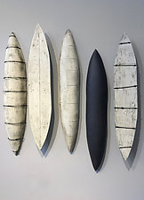 Pods by Lori Katz (Ceramic Wall Sculpture)