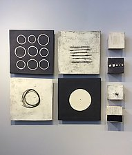 Four and Four by Lori Katz (Ceramic Wall Sculpture)
