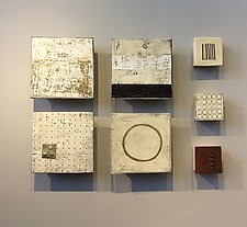Four and Three by Lori Katz (Ceramic Wall Sculpture)