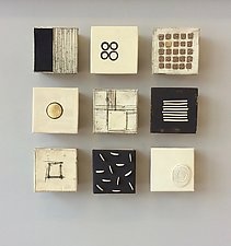 Nine Small by Lori Katz (Ceramic Wall Sculpture)
