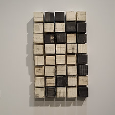 A Rectangle of Cubes by Lori Katz (Ceramic Wall Sculpture)