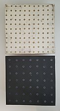Dots on Black and White by Lori Katz (Ceramic Wall Sculpture)