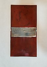 Rust Diptych by Lori Katz (Ceramic Wall Sculpture)