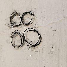 Creamy White and Wire by Lori Katz (Ceramic Wall Sculpture)