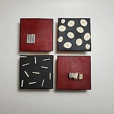 Red and Black by Lori Katz (Ceramic Wall Sculpture)