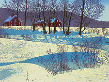 Jim's Farm by William Hays (Linocut Print)