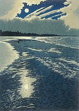 Moonlight Coast by William Hays (Linocut Print)