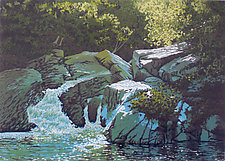 Summer Falls by William Hays (Linocut Print)
