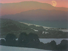 Summer Moon by William Hays (Linocut Print)