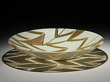 Arrows Platter in Honey and Cream by Patti & Dave Hegland (Art Glass Platter)