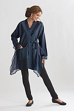 Silk Taffeta Nomad Coat by Carol Lee Shanks  (Silk Coat)