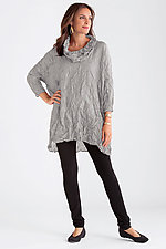 Crushed Silk Cowl Neck Tunic by Carol Lee Shanks  (Silk Tunic)