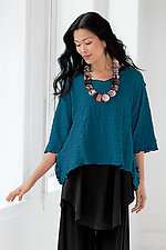 Pucker Popover Top by Noblu   (Knit Top)