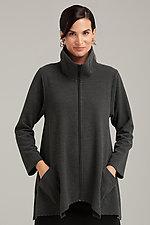 Striped Sassy Cowl Jacket by F.H. Clothing Company  (Knit Jacket)