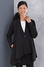 Shadow Wrap Ponte Jacket by F.H. Clothing Co.  (Knit Jacket)