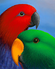 Eclectus by T.W. Wolff (Giclee Print)