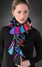 Royal Striped Scarf by Kristin Gereau  (Silk & Wool Scarf)