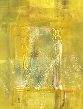 Sunshine Came Softly 4 by Sandra Humphries (Monotype Print)