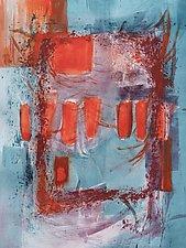 Orange Fields by Sandra Humphries (Monotype Print)