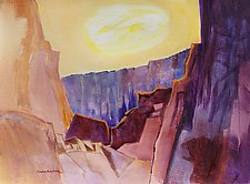 Canyon Sun by Sandra Humphries (Watercolor Painting)