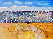 Trees at Mesa Verde by Sandra Humphries (Watercolor Painting)