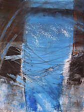 Tempest with Blue 2 by Sandra Humphries (Monotype Print)