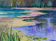 Morning Pond 1 by Sandra Humphries (Acrylic Painting)