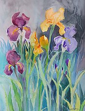 Spring Garden 2 by Sandra Humphries (Watercolor Painting)