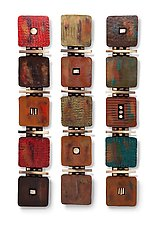 5-Tile Modern by Rhonda Cearlock (Ceramic Wall Sculpture)
