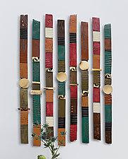 Story Sticks by Rhonda Cearlock (Ceramic Wall Sculpture)
