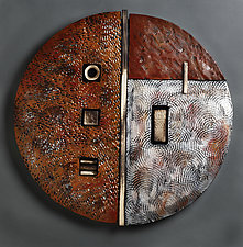 Serenity Sphere II by Rhonda Cearlock (Ceramic Wall Sculpture)
