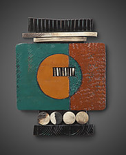 Tile Shard #3 by Rhonda Cearlock (Ceramic Wall Sculpture)