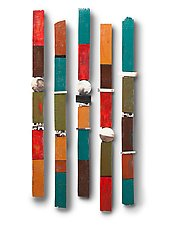 Large Story Sticks by Rhonda Cearlock (Ceramic Wall Sculpture)