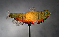 Rainbow Trout Light Sculpture by Lara Fisher (Mixed-Media Lamp)