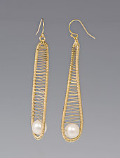 Gold-filled Earrings with Pearl by Tana Acton (Gold & Pearl Earrings)