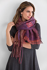 Red Flame Shawl by Anne Vincent  (Silk & Wool Shawl)