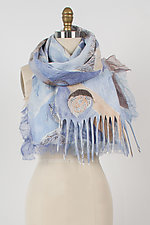 Giverny Felted Scarf by Anne Vincent  (Silk and Wool Scarf)