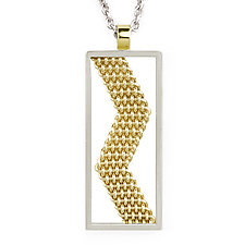 Lightning Bolt Necklace by Mackenzie Law (Gold & Silver Necklace)