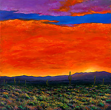 Saguaro at Sunset by Johnathan  Harris (Giclee Print)